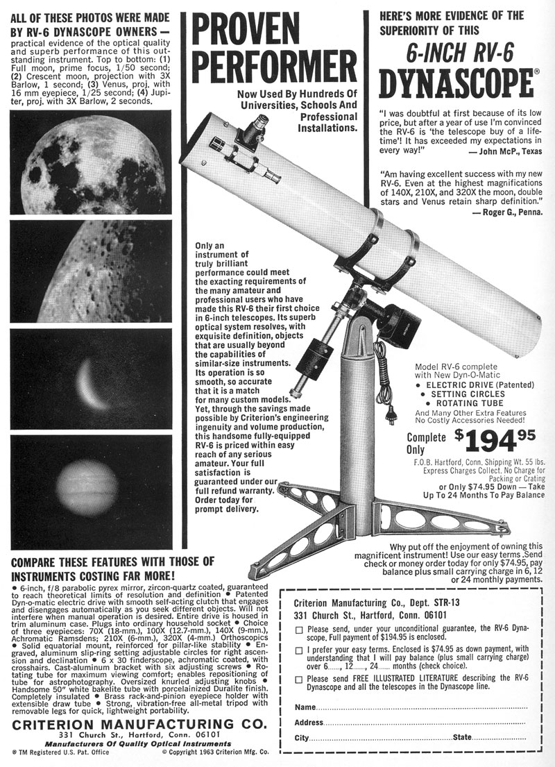 uncle rod's astro blog: uncle rod's telescope hall of fame